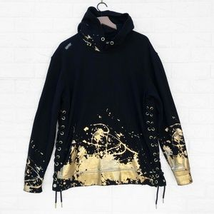 HERITAGE Pullover Hoodie with Gold Foil Splatter